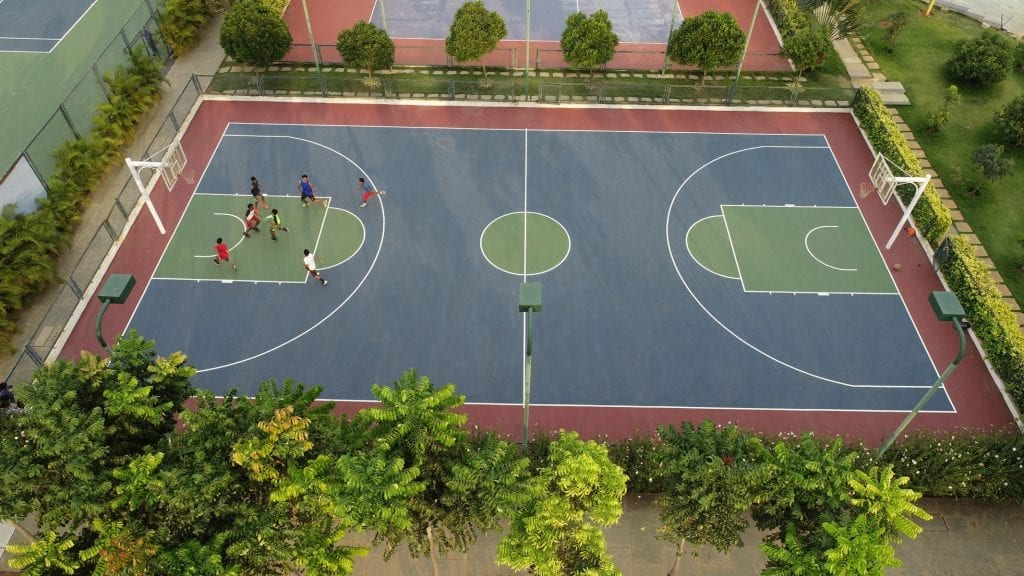football court top view